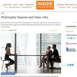 New data track graduates of six popular majors through their first three jobs