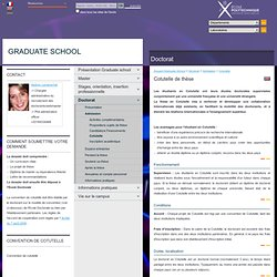 Graduateschool - Cotutelle de thèse