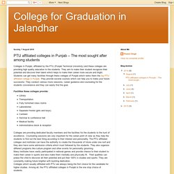 College for Graduation in Jalandhar: PTU affiliated colleges in Punjab – The most sought after among students