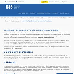 6 Sure Shot Tips On How To Get A Job After Graduation – C3S Business School