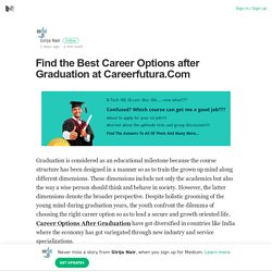 Find the Best Career Options after Graduation at Careerfutura.Com