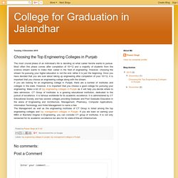 College for Graduation in Jalandhar: Choosing the Top Engineering Colleges in Punjab