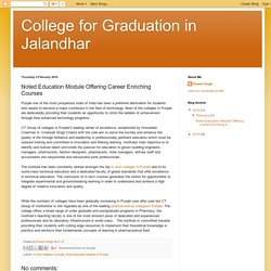 College for Graduation in Jalandhar: Noted Education Module Offering Career Enriching Courses