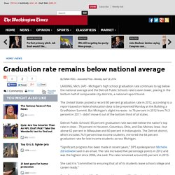 Graduation rate remains below national average