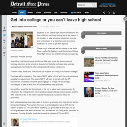 2 Detroit charter high schools set tough new graduation requirements