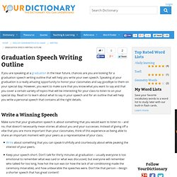 writing a commencement speech