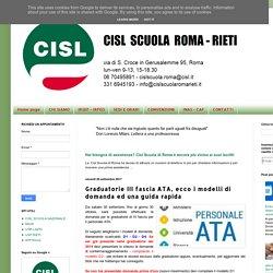 Cisl Scuola Roma Rieti: Graduatorie III fascia ATA, ecco i modelli di domanda ed una guida rapida