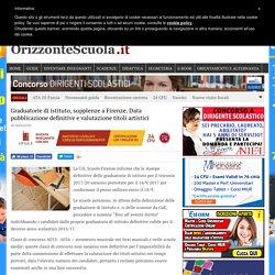 Graduatorie di istituto, supplenze a Firenze. Data pubblicazione definitive e valutazione titoli artistici - Orizzonte Scuola