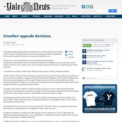 Graeber appeals decision