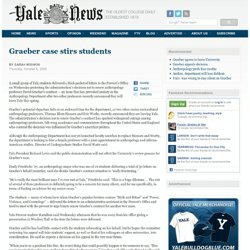 YaleDailyNews: Graeber case stirs students
