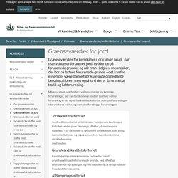 Grænseværdier for jord - Miljøstyrelsen