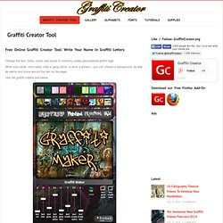 The Graffiti Creator Tool