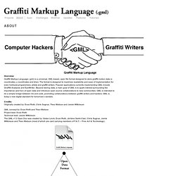 Graffiti Markup Language | About