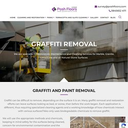 Book excellent customize Graffiti Removal Service at posh floors