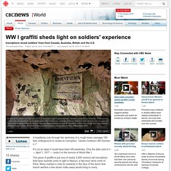 WW I graffiti sheds light on soldiers' experience
