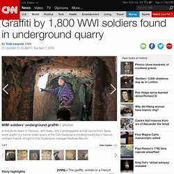 WWI graffiti found deep underground in France