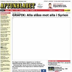 GRAFIK: Alla slåss mot alla i Syrien