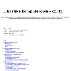 Grafika komputerowa - cz. II