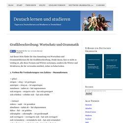 Grafikbeschreibung: Wortschatz und Grammatik