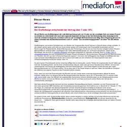 mediafon - Bei Grafikdesign entscheidet der Vertrag über 7 oder 19%