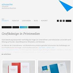 Grafikdesign in Darmstadt - Broschüren, Geschäftsberichte, Flyer // Grafik- und Webdesign-Agentur SCHUMACHER