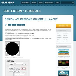 Design an awesome colorful layout