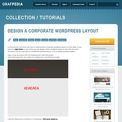 Design a corporate wordpress layout | Grafpedia