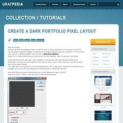 Create a dark portfolio pixel layout