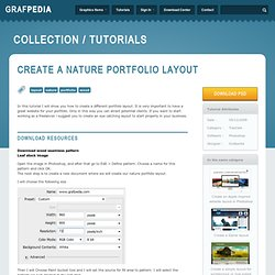 Create a nature portfolio layout