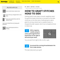 How to Graft Stitches Head to Side - dummies