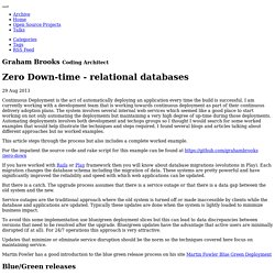 Graham Brooks - Zero Down-time - relational databases