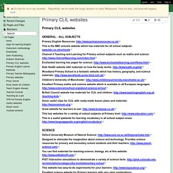 grahamworkmanprimary - Primary CLIL websites