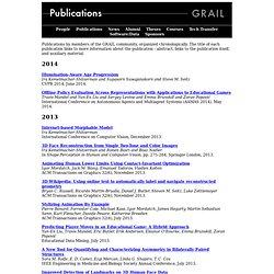 GRAIL Publications