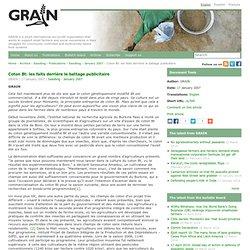 GRAIN - JANVIER 2007 - Coton Bt: les faits derrière le battage publicitaire