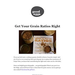 Get Your Grain Ratios Right on The Eater's Digest
