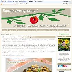Salade de pois chiches à l'aubergine et à l'oignon