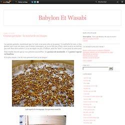 Graines germées : la moutarde en images - Babylon et Wasabi