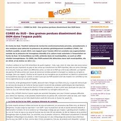 INFOGM - JUILLET 2013 - COREE du SUD - Des graines perdues disséminent des OGM dans l'espace public