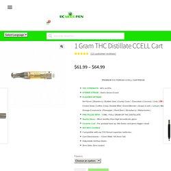 1 Gram THC Distillate Weed Vape Cart
