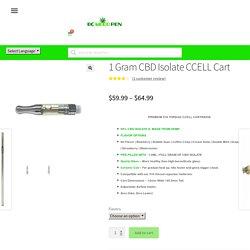 1 Gram CBD Isolate Cart - 99% Pure CBD Isolate - Bcweedpen