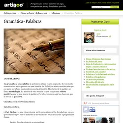 Gramática- Palabras