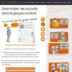 Grammaire : les accords dans le groupe nominal