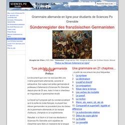 Grammaire en ligne - Science Po Grenoble : un peu ardue mais humoristique