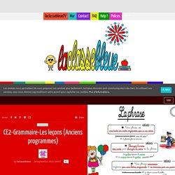 CE2-Grammaire-Les leçons (Anciens programmes)