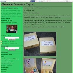 Boîtes de grammaire - Clémence Cazenave Tapie