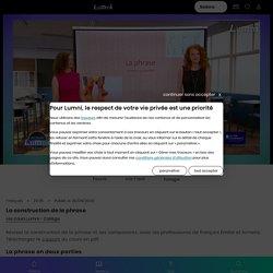 Grammaire : la construction de la phrase (29 juin) - Vidéo Français