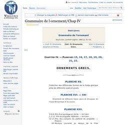 Grammaire de l ornement/Chap IV