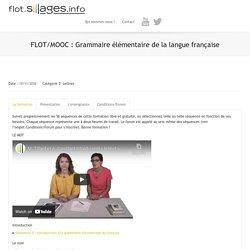 Grammaire élémentaire de la langue française
