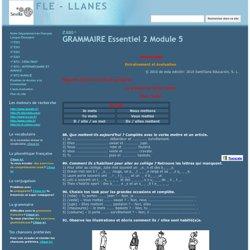 GRAMMAIRE Essentiel 2 Module 5 - FLE - LLANES