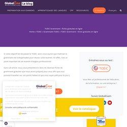 TOEIC Grammaire : fiches gratuites en ligne